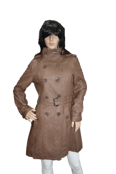 manteau-cuir-marron